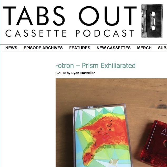 AJ | Projects | ‑otron | Radio play and reviews for Prism Exhilarated