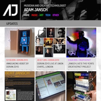 AJ | Code | AJ | Adam Jansch | AJ website hits version 9