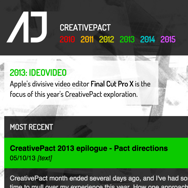 AJ | Code | AJ | Adam Jansch | New CreativePact docs website launched