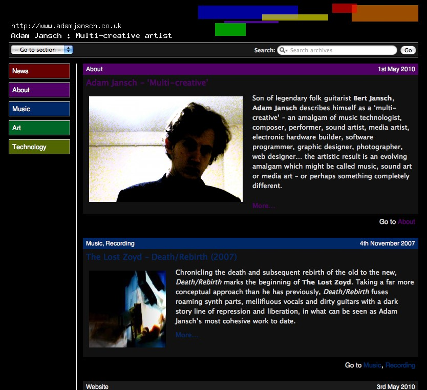 AJ | Code | AJ | Adam Jansch | Wordpress powers new AJ website