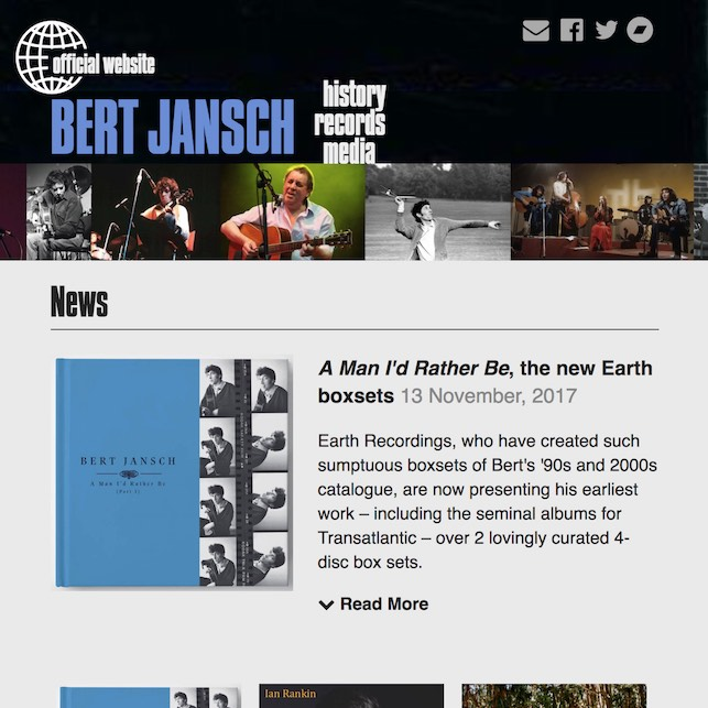 AJ | Bert Jansch website revamp goes live