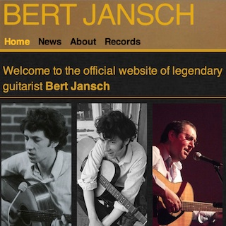 AJ | Code | Bert Jansch website | New Bert Jansch website launched